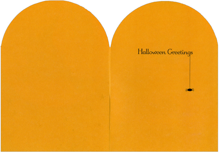 Pumpkin Witch (1 card/1 envelope) - Halloween Card - FRONT: No Text  INSIDE: Halloween Greetings