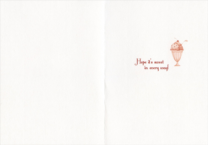 Ice Cream Sundae (1 card/1 envelope) - Sweetest Day Card - FRONT: Happy Sweetest Day!  INSIDE: Hope it's sweet in every way!