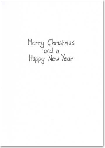 Curtain (1 card/1 envelope) - Christmas Card - FRONT: I hope you haven't been wiping your nose on the curtains - you're not at home now, you know.  INSIDE: Merry Christmas and a Happy New Year