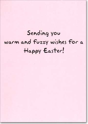 Baby Chick (1 card/1 envelope) Recycled Paper Greetings Easter Card  INSIDE: Sending you warm and fuzzy wishes for a Happy Easter!