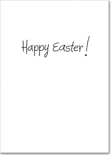 Easter Basket Case (1 card/1 envelope) Recycled Paper GreetingsFunny Easter Card - FRONT: I don't know, doc, I just feel so hollow inside. Easter Basket Case  INSIDE: Happy Easter!