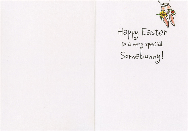 Special Somebunny (1 card/1 envelope) Recycled Paper Greetings Easter Card  INSIDE: Happy Easter to a very special Somebunny!