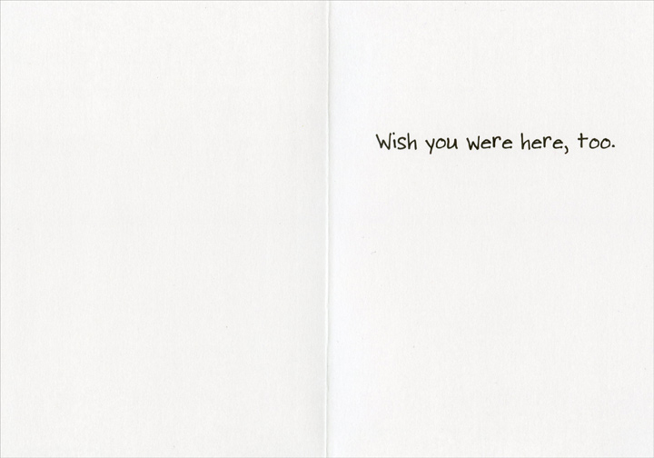 Roses are Red Easter (1 card/1 envelope) Recycled Paper Greetings Easter Card - FRONT: Roses are red, violets are blue, Easter is here…  INSIDE: Wish you were here, too.