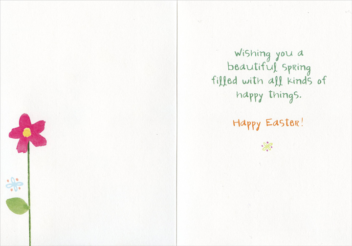 Special Aunt (1 card/1 envelope) Recycled Paper Greetings Easter Card - FRONT: To a Special Aunt - smiles - bright moments - laughter - great friends - love - peace - joy  INSIDE: wishing you a beautiful spring filled with all kinds of happy things. Happy Easter!