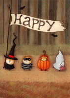Forest Parade (1 card/1 envelope) RPG Halloween Card