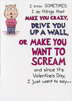 Make You Crazy (1 card/1 envelope) Recycled Paper Greetings Funny Valentine's Day Card