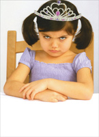 Little Girl With Tiara (1 card/1 envelope) Recycled Paper Greetings Funny Birthday Card