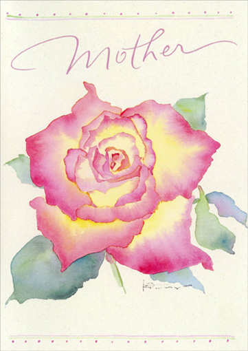 Rose (1 card/1 envelope) Mother's Day Card - FRONT: Mother  INSIDE: May your day be as special as you are.  Happy Mother's Day