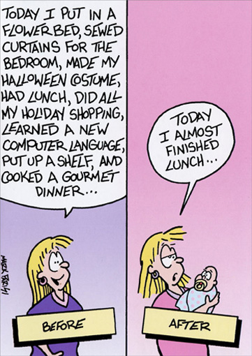 Before & After Off The Mark Funny / Humorous Mother's Day