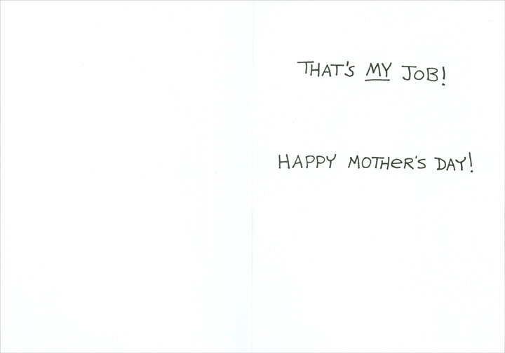 My job skip morrow funny humorous mothers day card by recycled inside m4hsunfo