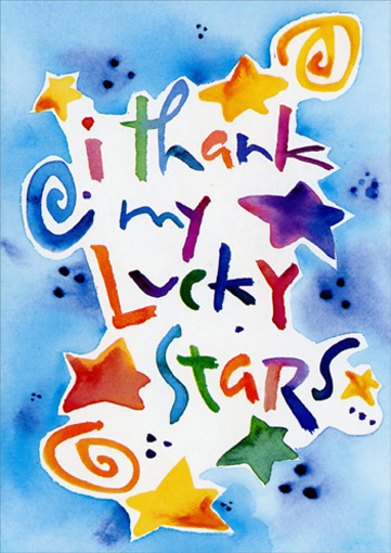 Lucky Stars (1 card/1 envelope) - Father's Day Card - FRONT: I thank my lucky stars..  INSIDE: that I have a brother like you!  Happy Father's Day!!!