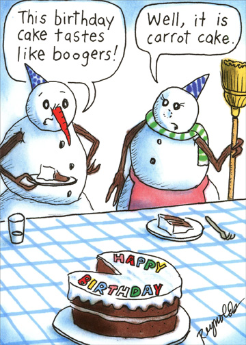 Pleasant Snowman Boogers Funny Humorous Birthday Card For Him By Recycled Personalised Birthday Cards Petedlily Jamesorg