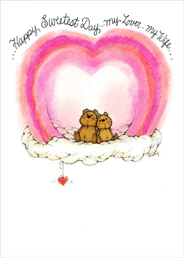 Best Friend For Life (1 card/1 envelope) - Sweetest Day Card - FRONT: ..Happy Sweetest Day..My Lover..My Wife..  INSIDE: ..my best friend for life!!!