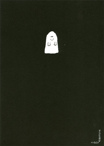 Smiling Ghost (1 card/1 envelope) Halloween Card - FRONT: No Text  INSIDE: Boo