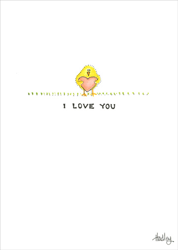 Will You Be My Eastertine? (1 card/1 envelope) Easter Card - FRONT: I Love You  INSIDE: Will you be my Eastertine?