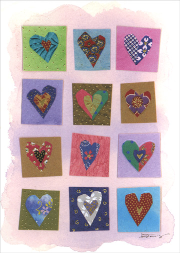 Many Hearts (1 card/1 envelope) Mother's Day Card - FRONT: No Text  INSIDE: Lots of Love for a Happy Mother's Day!