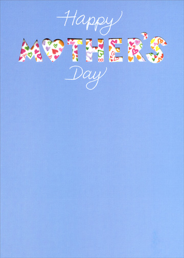 Happy Mothers Day (1 card/1 envelope) Mother's Day Card - FRONT: Happy Mother's Day  INSIDE: with lots of love