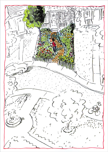 City Garden (1 card/1 envelope) Mother's Day Card - FRONT: No Text  INSIDE: Happy Mother's Day!  To my aunt who makes the world a more beautiful place.