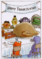 Big Bird (1 card/1 envelope) - Thanksgiving Card - FRONT: Happy Thanksgiving  INSIDE: Here's wishing you a big bird this Thanksgiving