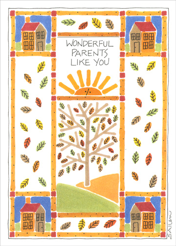 Wonderful Parents (1 card/1 envelope) Thanksgiving Card - FRONT: Wonderful parents like you  INSIDE: are a special reason to be thankful!  Happy Thanksgiving