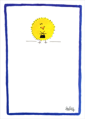Chicksa (1 card/1 envelope) Funny Passover Card - FRONT: No Text  INSIDE: Happy Passover from a Chicksa