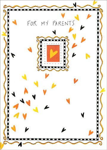 Little Hearts (1 card/1 envelope) - Halloween Card - FRONT: For My Parents  INSIDE: With love on Halloween and always