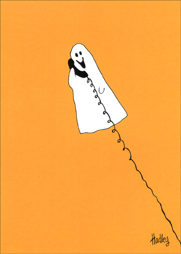 Lift My Spirits (1 card/1 envelope) Halloween Card - FRONT: No Text  INSIDE: You always lift my spirits!  Happy Halloween to a geat sister!