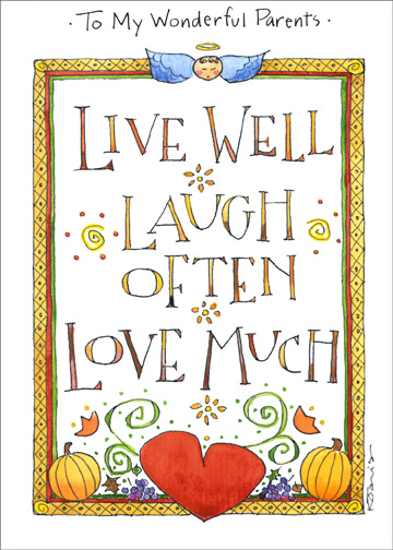 Live well laugh often thanksgiving card by recycled paper greetings m4hsunfo