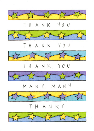 Rows of Thanks (1 card/1 envelope) - Administrative Assistant's Day Card - FRONT: Thank You Thank You Thank You Many, Many Thanks  INSIDE: For the many, many things you do that make such a difference.  Happy Administrative Professional's Day