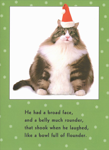 Cat bowl full of funny humorous christmas card by recycled paper cat bowl full of funny humorous christmas card by recycled paper greetings m4hsunfo