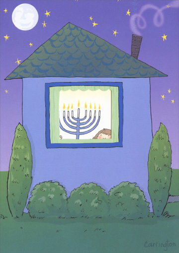 Light & Love (1 card/1 envelope) Recycled Paper Greetings Hanukkah Card - FRONT: No Text  INSIDE: Light and love from our home to yours. Happy Hanukkah