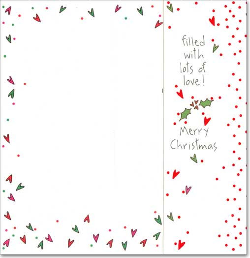 A Little Something Money Holder (1 card/1 envelope) Recycled Paper Greetings Christmas Card - FRONT: a little something for you�  INSIDE: filled with lots of love!  Merry Christmas