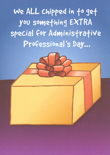 We all chipped in administrative professionals day card by recycled we all chipped in administrative professionals day card by recycled paper greetings m4hsunfo