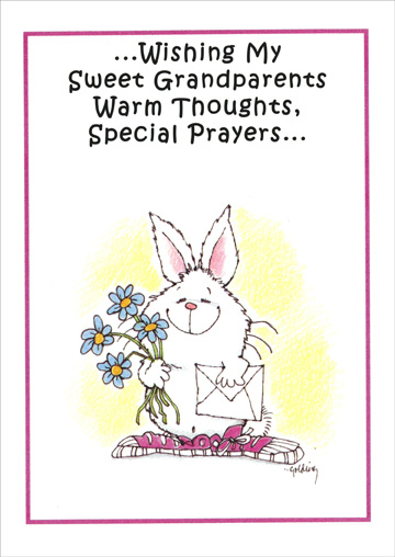 Warm Thoughts, Special Prayers (1 card/1 envelope) Recycled Paper Greetings Easter Card - FRONT: �Wishing My Sweet Grandparents Warm Thoughts, Special Prayers�  INSIDE: �and a very Happy Easter!
