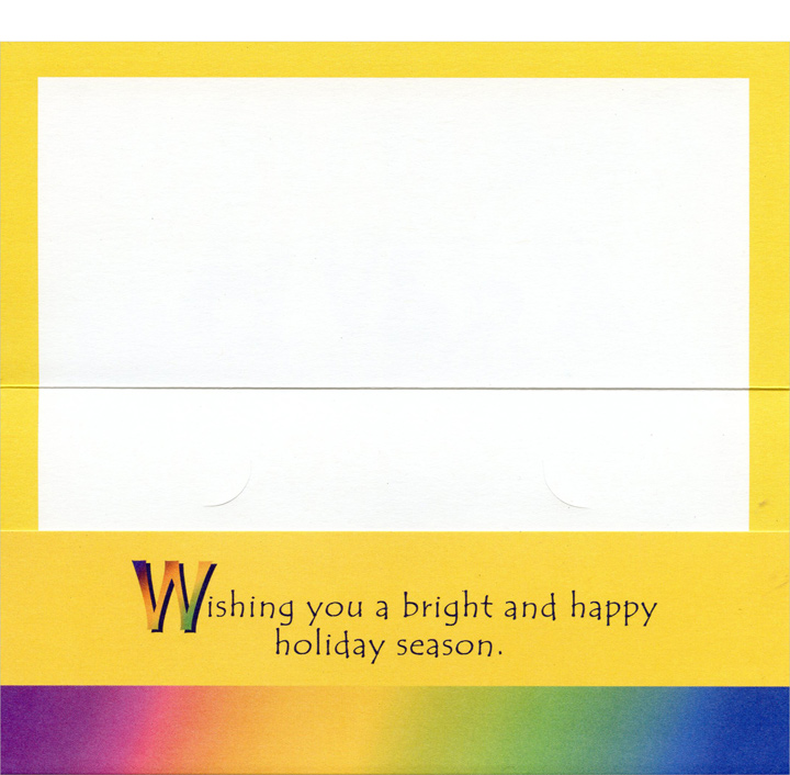 Happy Hanukkaah Money Holder  (1 card/1 envelope) - Hanukkah Card - FRONT: Happy Hanukkaah  INSIDE: Wishing you a bright and happy holiday season.