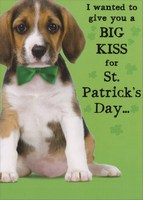 Licker License (1 card/1 envelope) - St. Patrick's Day Card - FRONT: I wanted to give you a BIG KISS for St. Patrick's Day�  INSIDE: �but I don't have a Licker License.