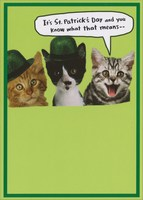Kegger (1 card/1 envelope) - St. Patrick's Day Card - FRONT: It's St. Patrick's Day and you know what that means --  INSIDE: Kegger! Happy St. Patrick's Day