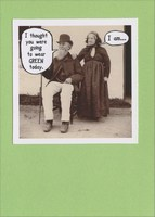 Wear Green Today (1 card/1 envelope) Recycled Paper Greetings Funny St. Patrick's Day Card