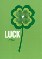 Luck (1 card/1 envelope) Recycled Paper Greetings St. Patrick's Day Card