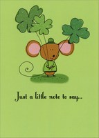 A Little Note (1 card/1 envelope) Recycled Paper Greetings St. Patrick's Day Card