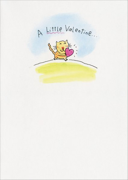 Lots of Love (1 card/1 envelope) Valentine's Day Card - FRONT: A Little Valentine..  INSIDE: With lots of LOVE
