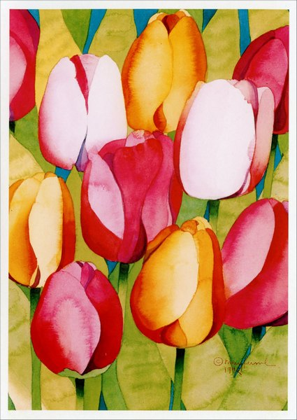 Tulips (1 card/1 envelope) - Easter Card - FRONT: No Text  INSIDE: Happy Easter, Happy Spring
