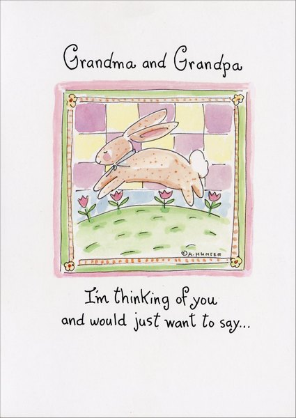 hopping bunny easter card by recycled paper greetings