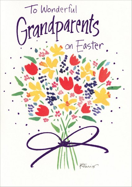 To Wonderful Grandparents (1 card/1 envelope) - Easter Card - FRONT: To Wonderful Grandparents on Easter  INSIDE: Love you much more than words can say..Wishing you the happiest Easter day!
