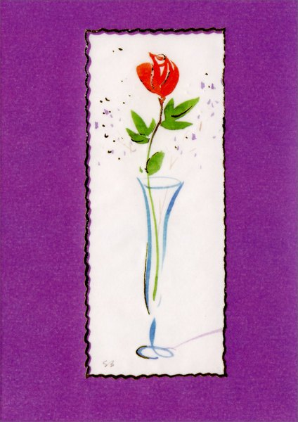 Flower in Vase (1 card/1 envelope) Easter Card - FRONT: No Text  INSIDE: You are always and forever the one I love - Happy Easter!
