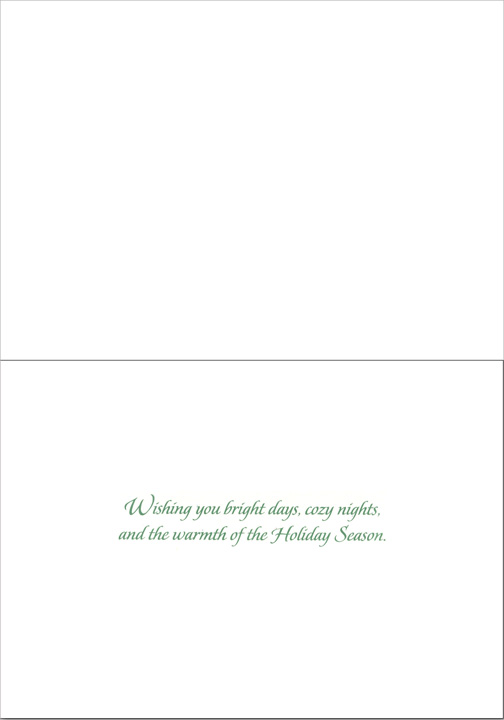 Peace on Earth Yachts (1 card/1 envelope) Nautical Christmas Card - FRONT: Peace on Earth  INSIDE: Wishing you bright days, cozy nights, and the warmth of the Holiday Season.