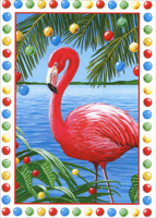 Pink Flamingo (18 cards/18 envelopes) - Boxed Christmas Cards  INSIDE: A warm and happy wish of cheer for the holiday season and the coming year!