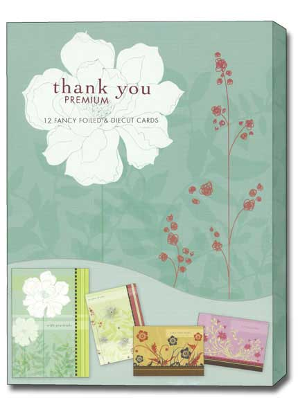 Thankful Hearts (12 Thank You Cards with envelopes) Assorted Floral Boxed Thank You Cards - FRONT: Various  INSIDE: Various
