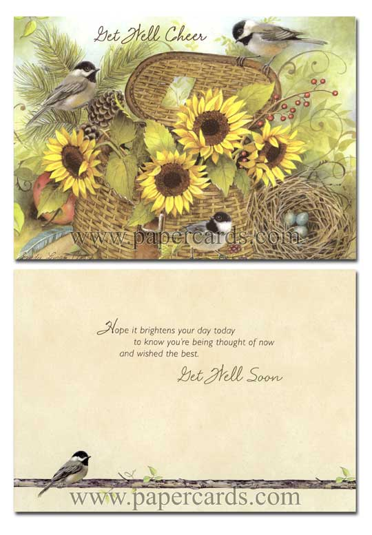 A Garden of Blessings (12 Get Well Cards with envelopes) - Boxed Get Well Cards - FRONT: Various  INSIDE: Various