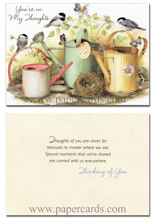 A Garden of Blessings (12 Thinking of You Cards with envelopes) Assorted Boxed Thinking of You Cards - FRONT: Various  INSIDE: Various